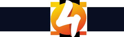 Logo van Logo4Life in blauw