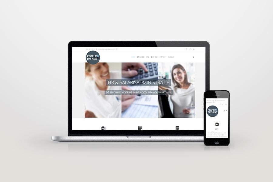 Website van People&Payment - door Logo4Life