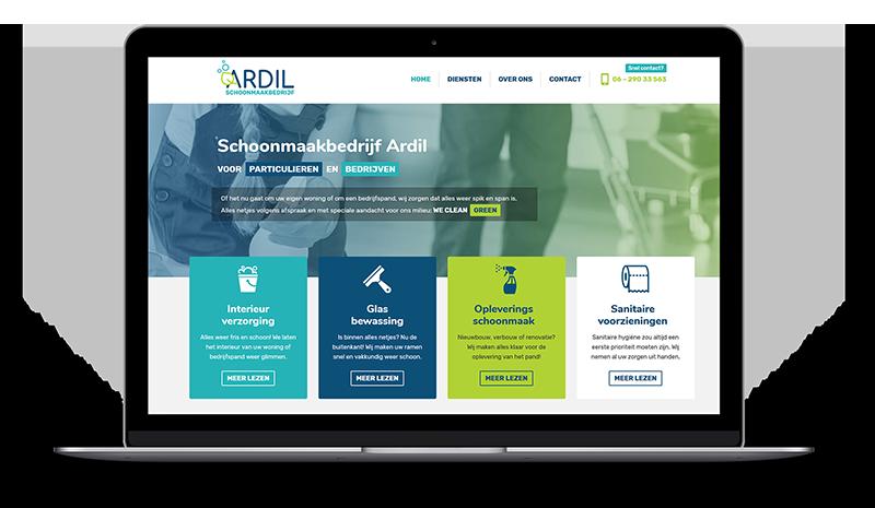 Ardil Schoonmaakbedrijf website