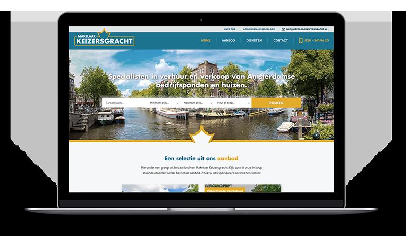Makelaar Keizersgracht website