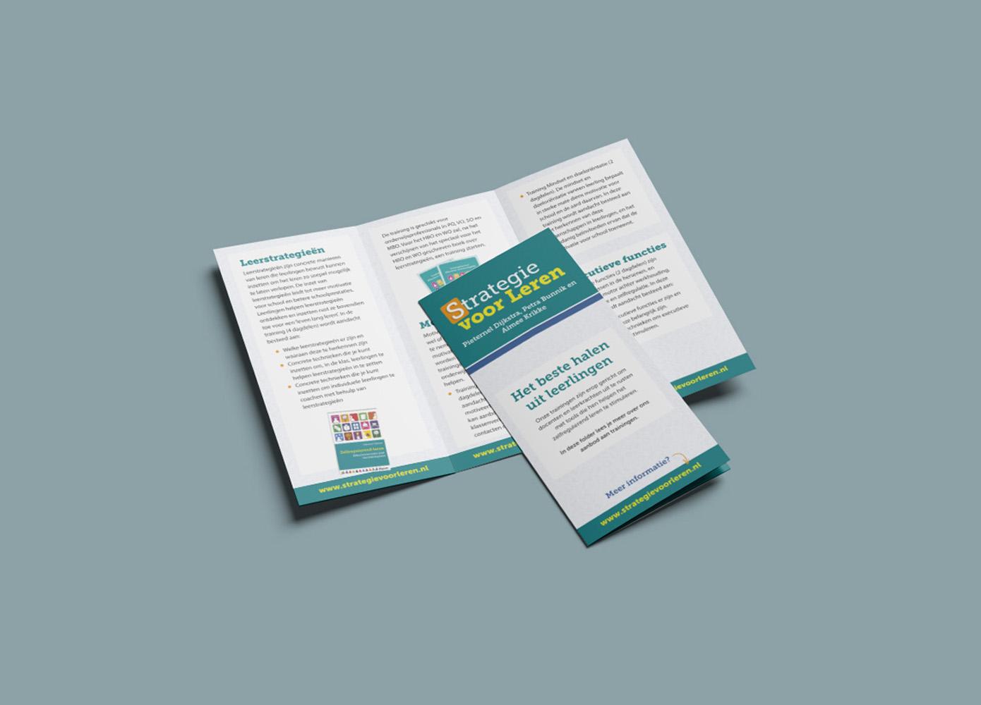 Brochure ontwerp Strategie voor Leren