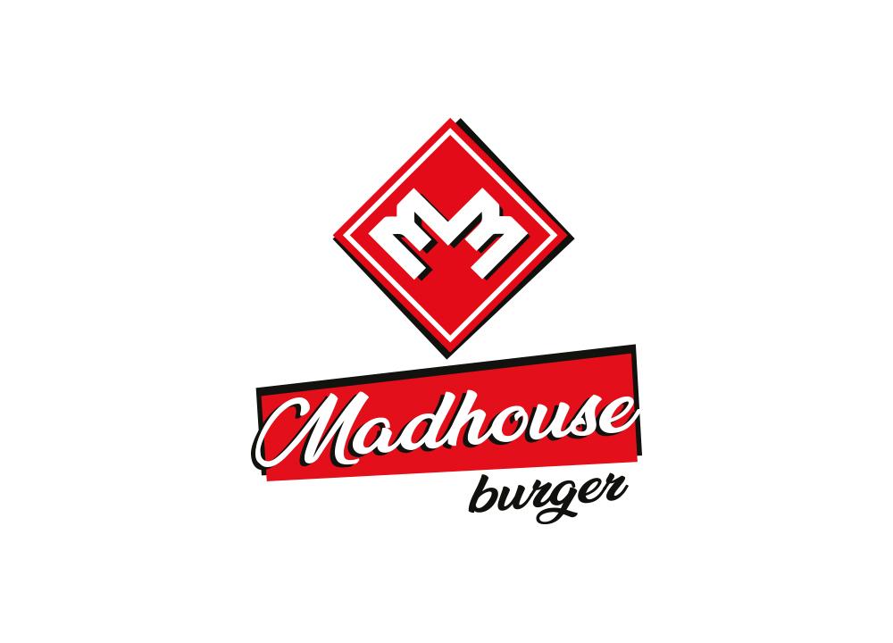 Logo ontwerp van Madhouse burger