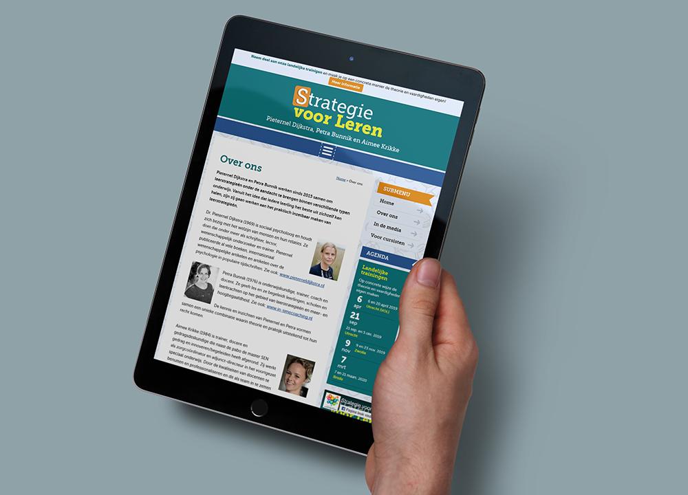 Website ontwerp Strategie voor Leren
