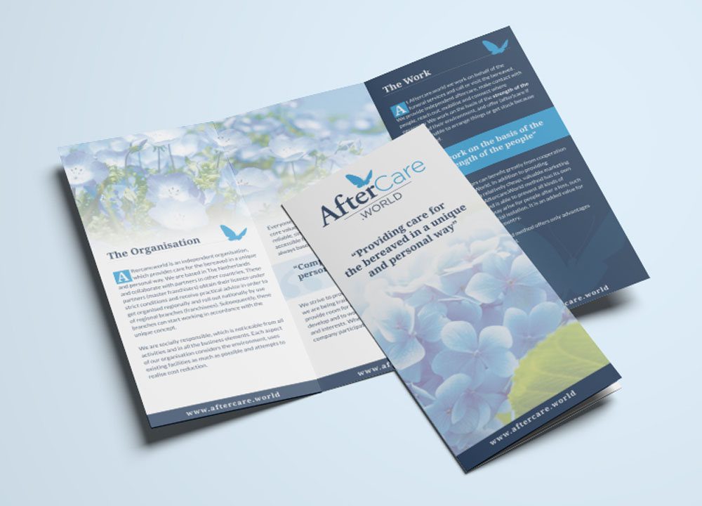 Brochure ontwerp AfterCare.world