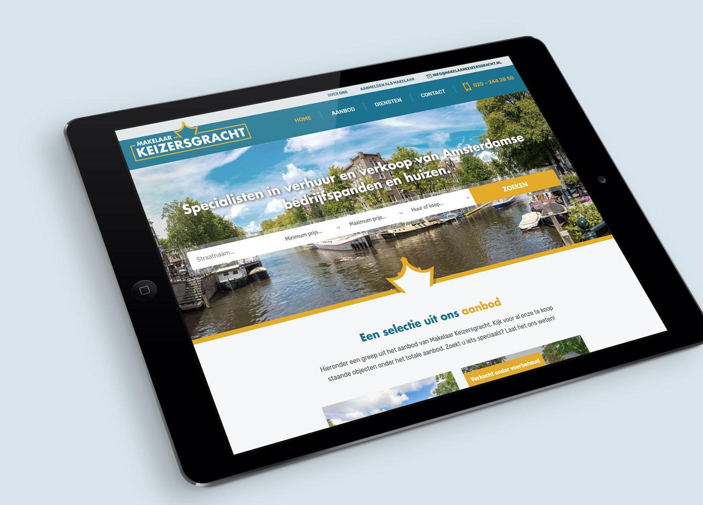 Website ontwerp Makelaar Keizersgracht