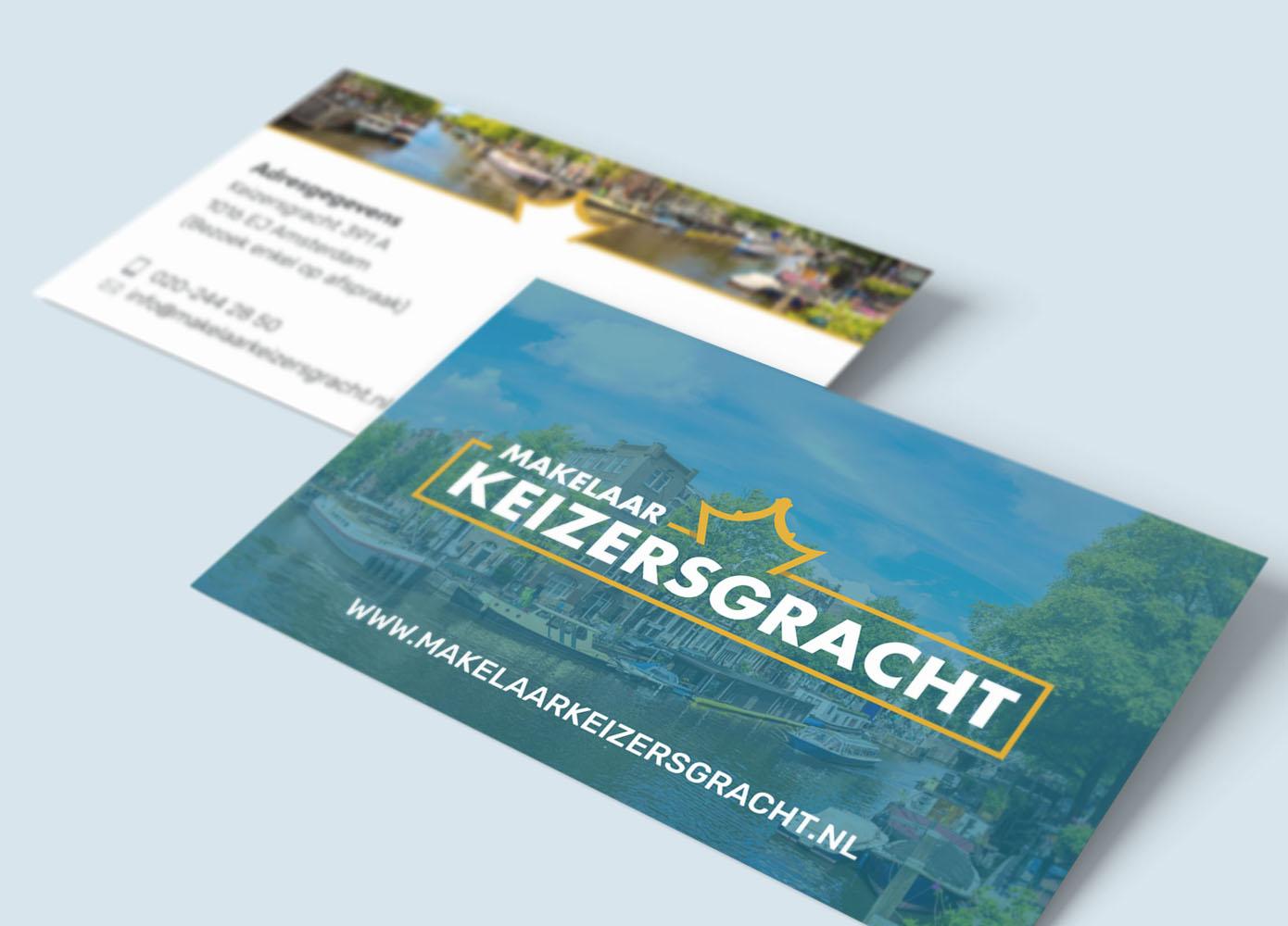 Visitekaart ontwerp Makelaar Keizersgracht