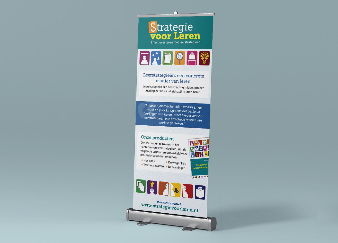 Roll-up banner ontwerp Strategie voor Leren