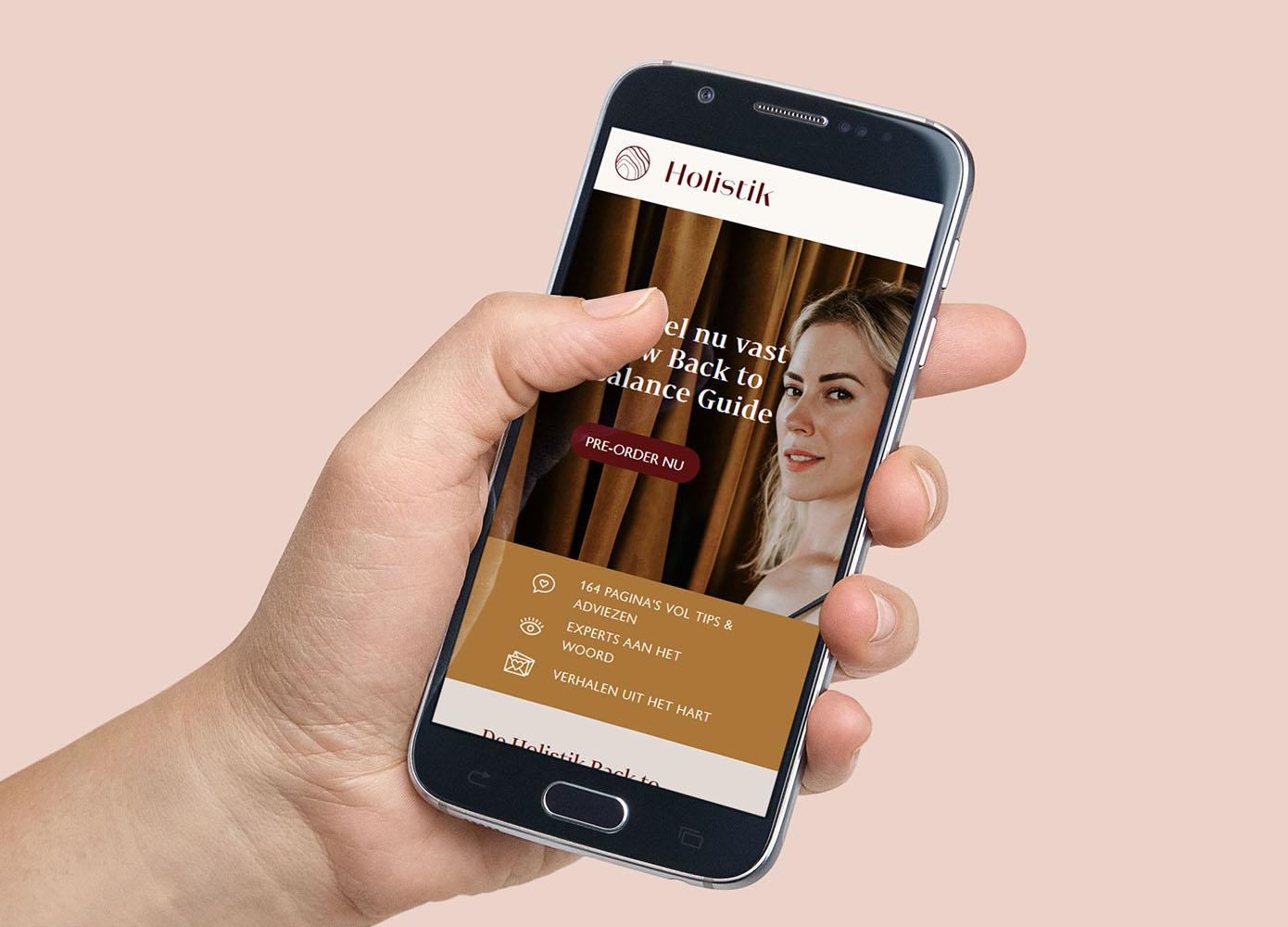 Webshop ontwerp voor Holistik