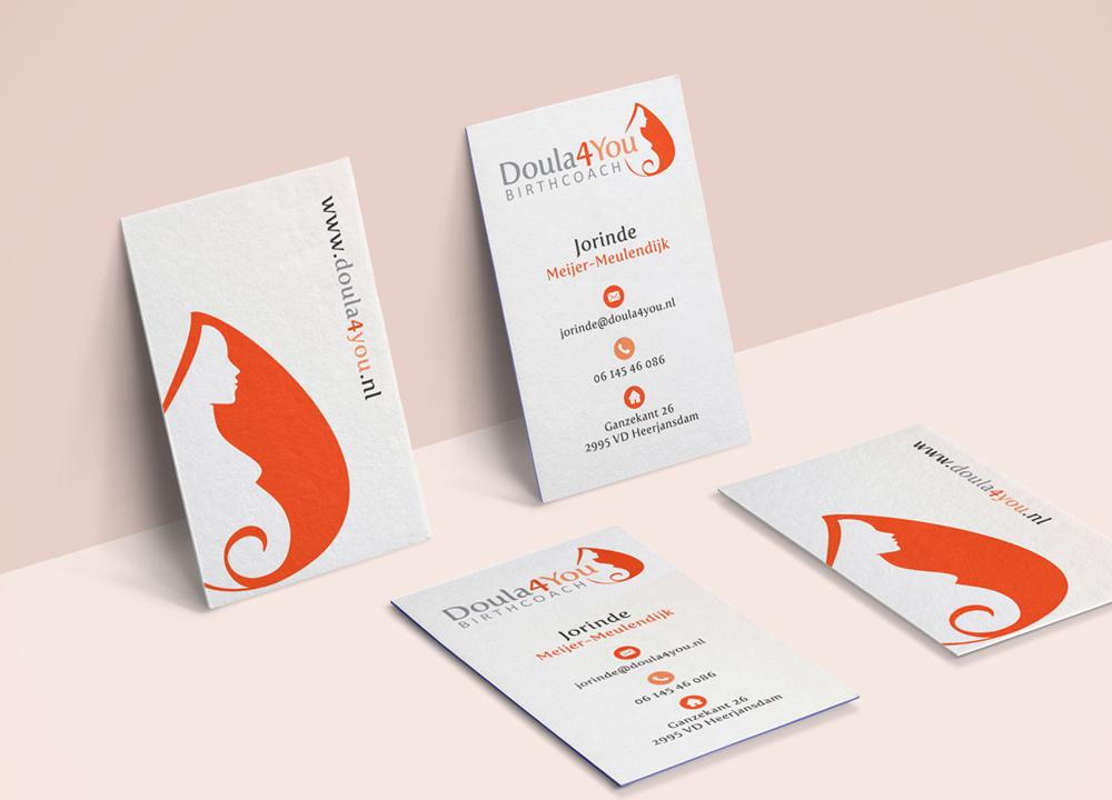 Visitekaart ontwerp Doula4you Birthcoach