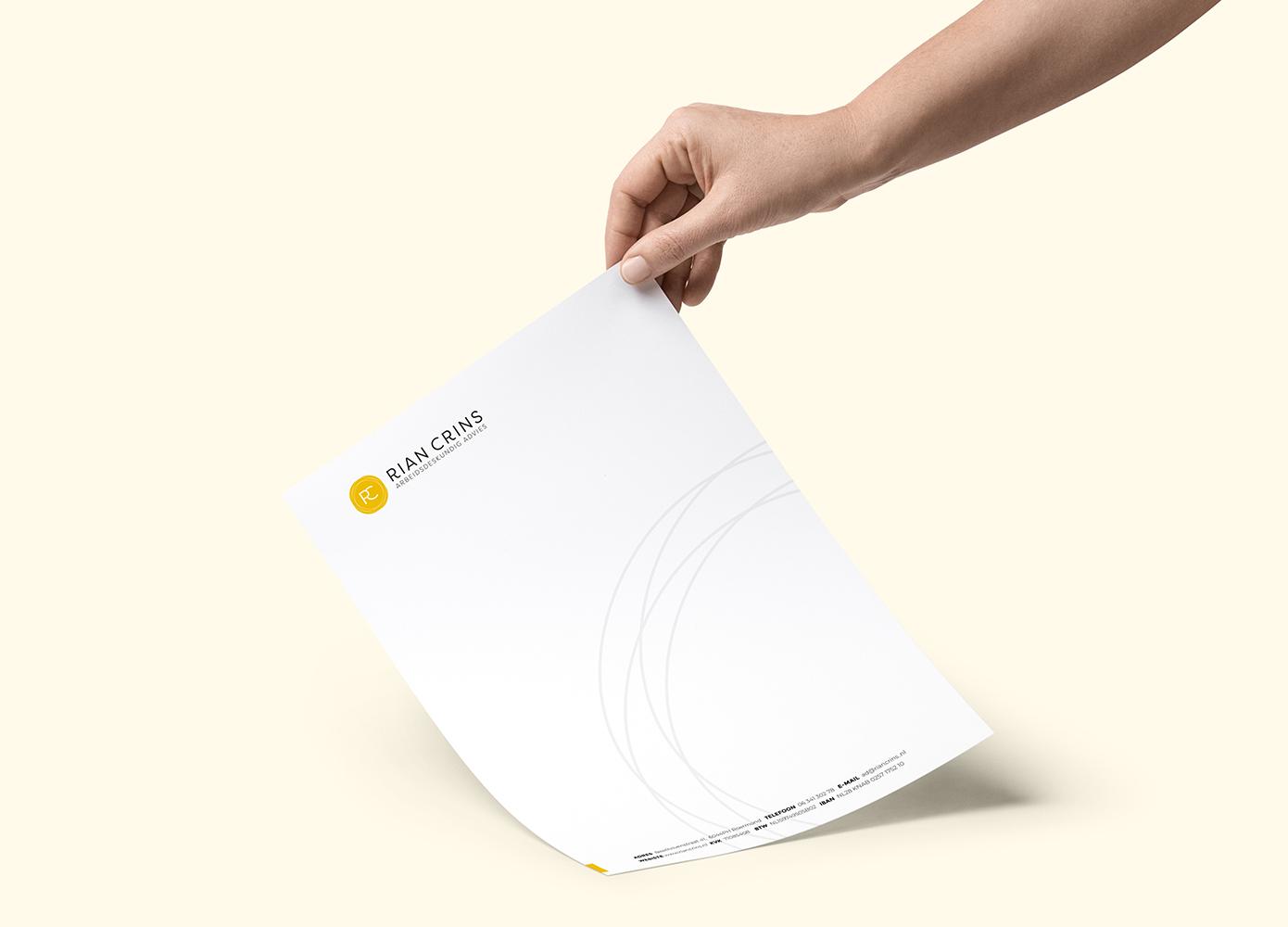Briefpapier ontwerp Rian Crins