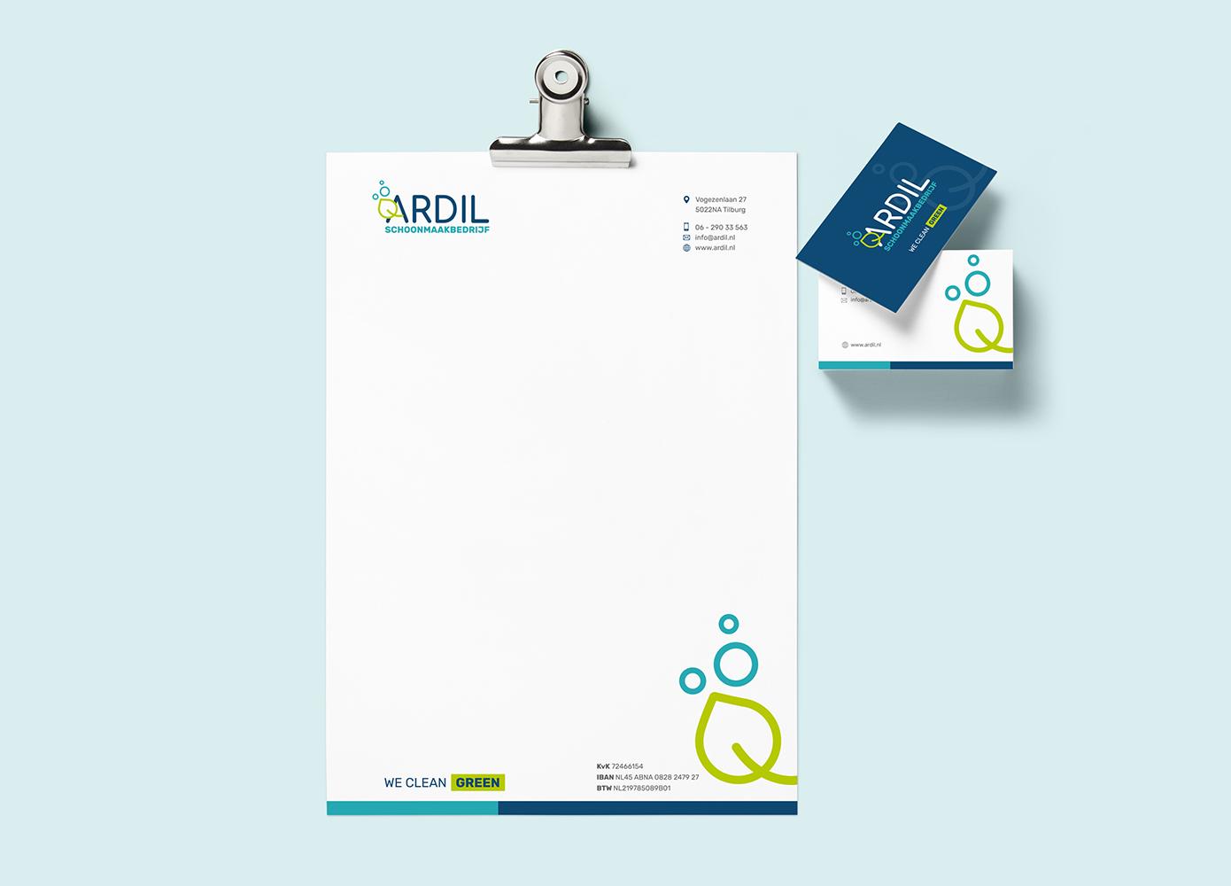 Huisstijldragers Ardil schoonmaakbedrijf