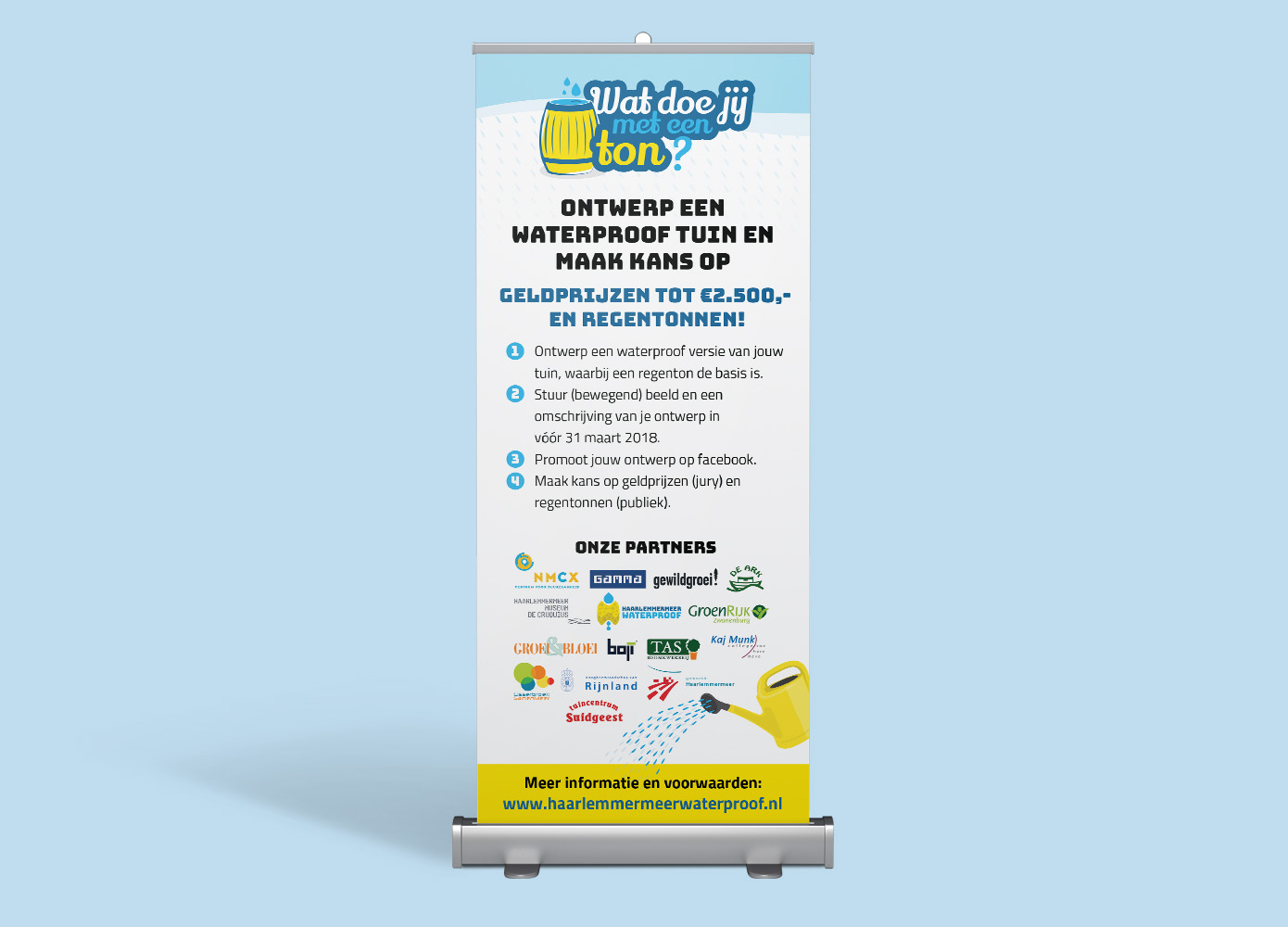 Roll-up banner ontwerp NMCX