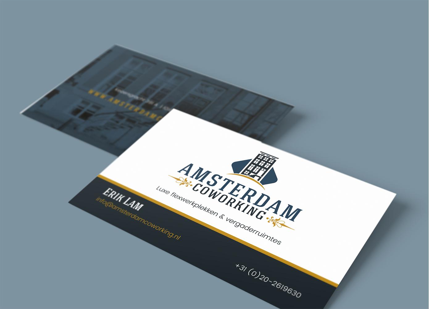 Visitekaart ontwerp Amsterdam Coworking