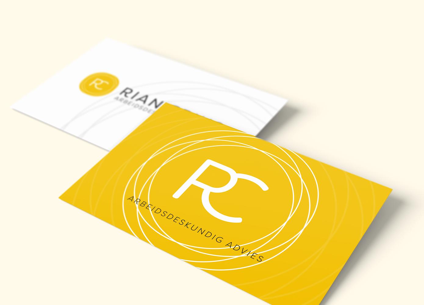Visitekaart ontwerp Rian Crins