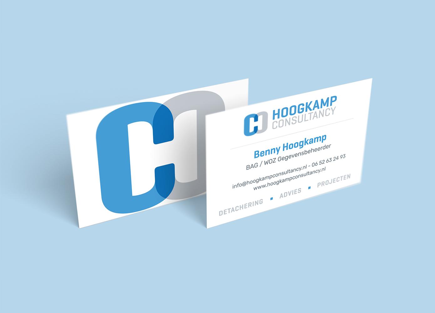 Visitekaart ontwerp Hoogkamp Consultancy