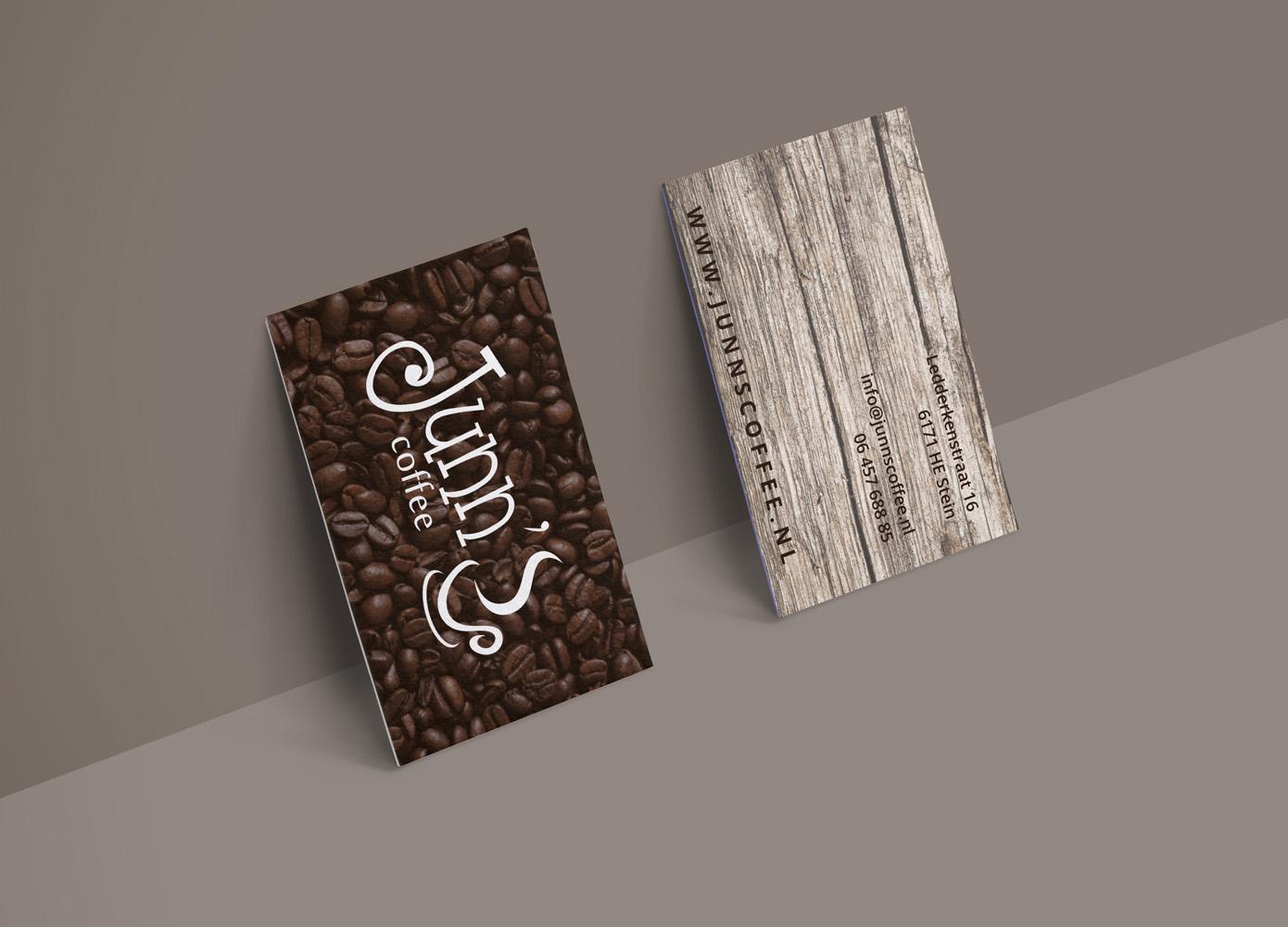 Visitekaart ontwerp Junn's Coffee