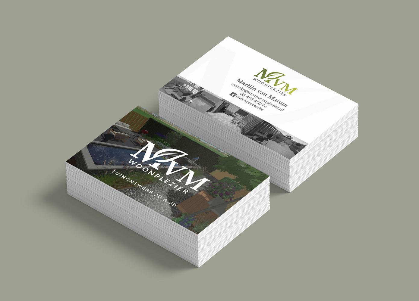 Visitekaart ontwerp MvM Woonplezier