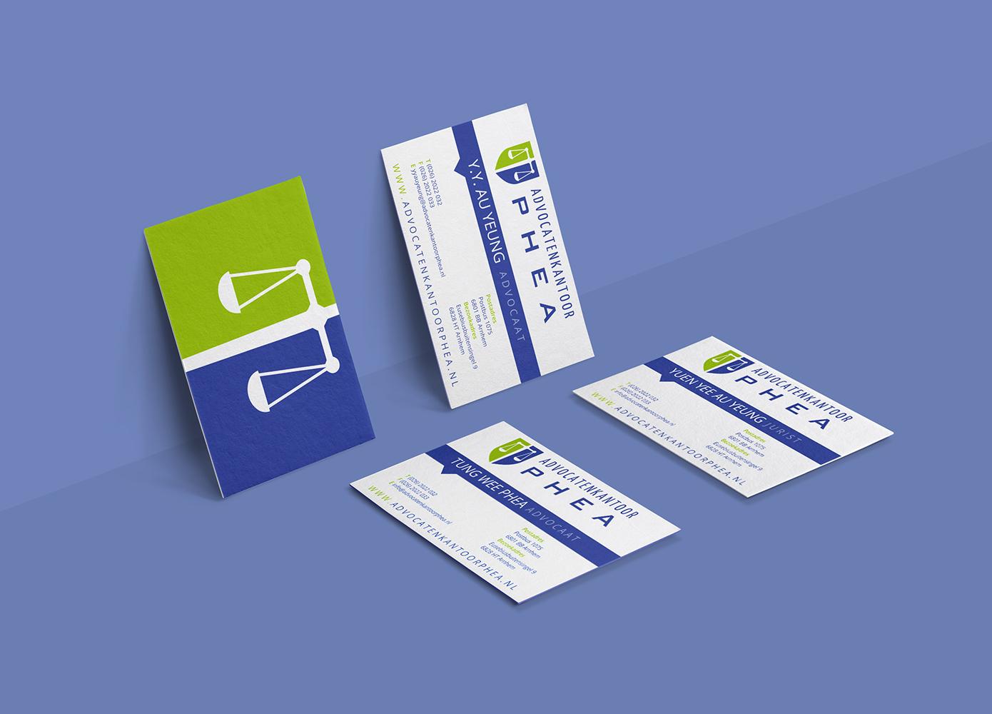 Visitekaart ontwerp Advocatenkantoor Phea