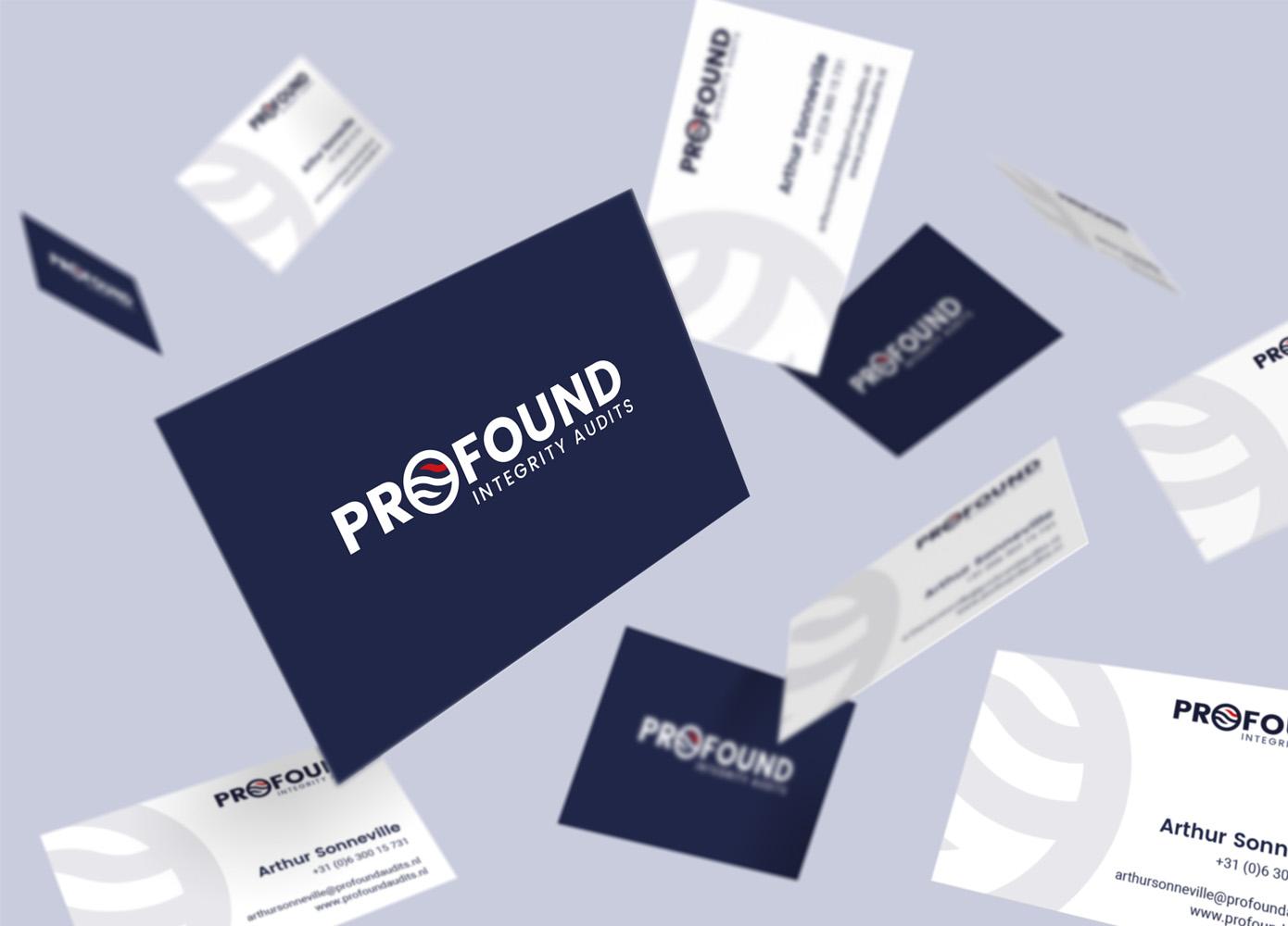 Visitekaart ontwerp Profound