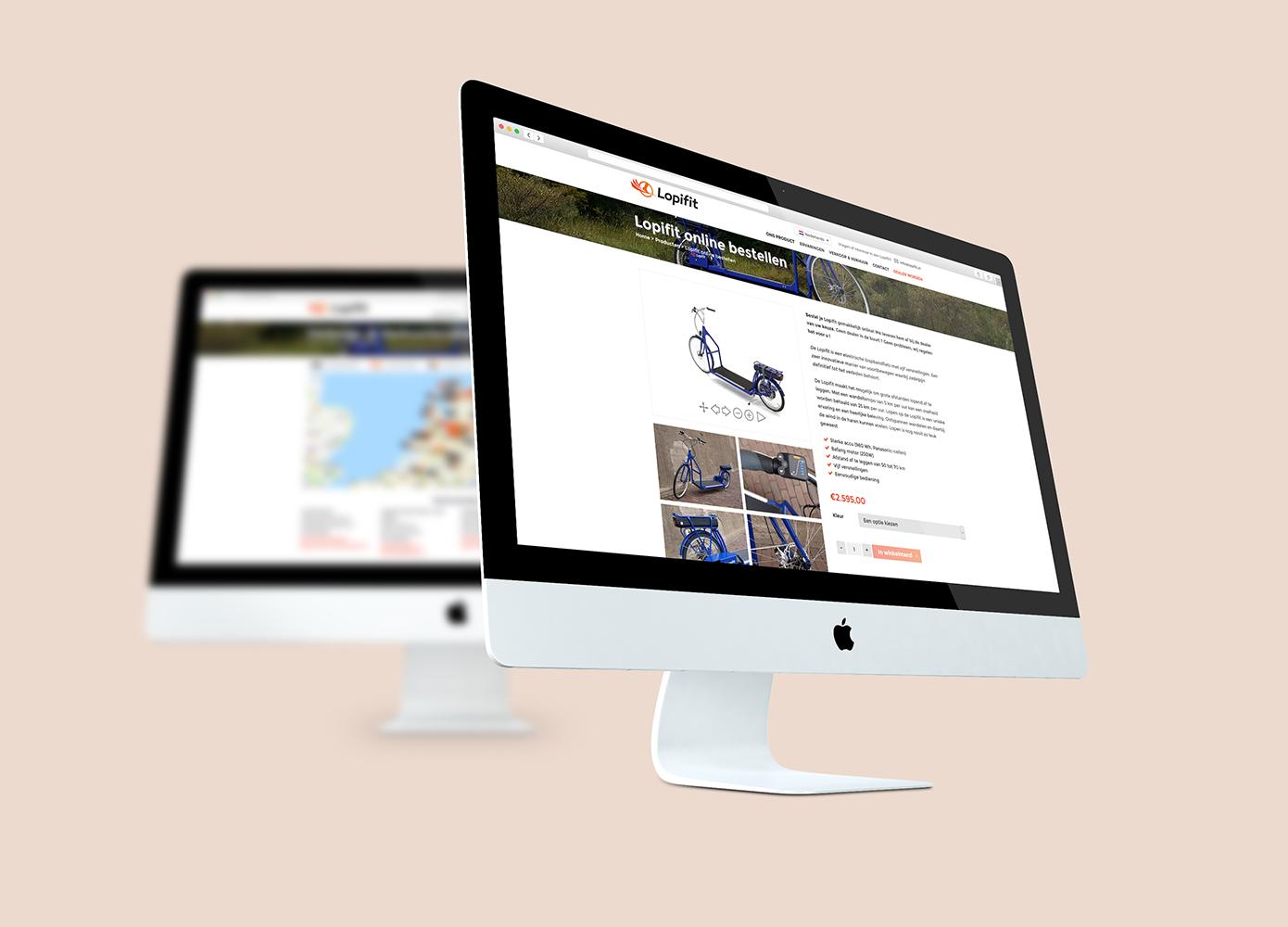 Webshop ontwerp Lopifit