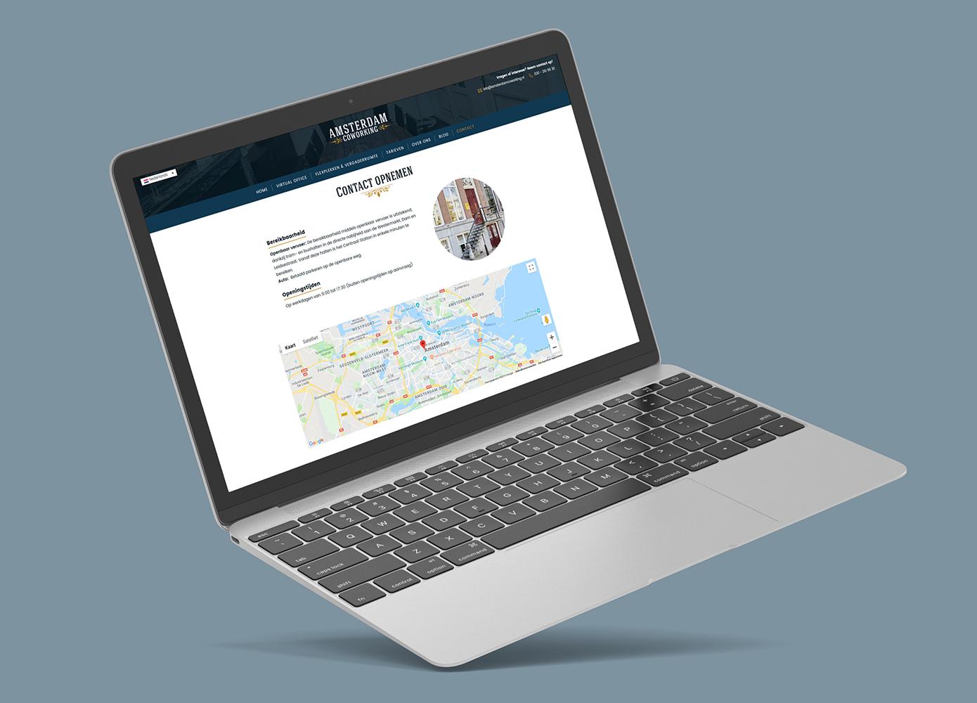 Website ontwerp Amsterdam Coworking