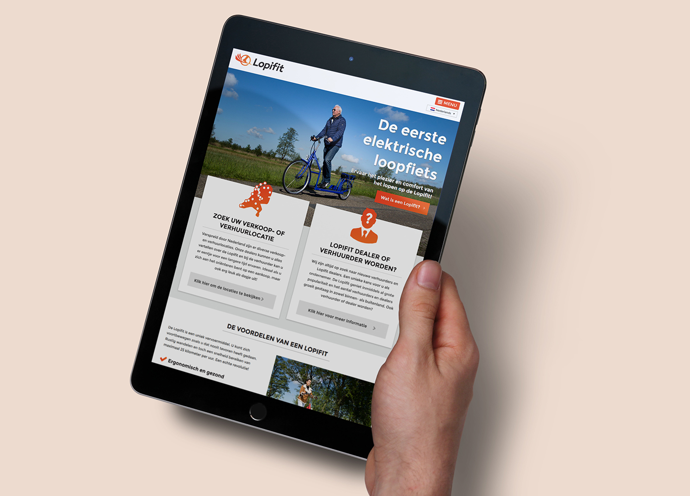 Website ontwerp Lopifit