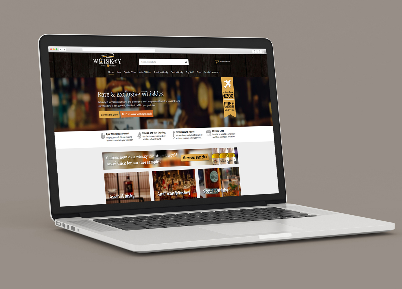 Website ontwerp Whiskay Invest & Collect