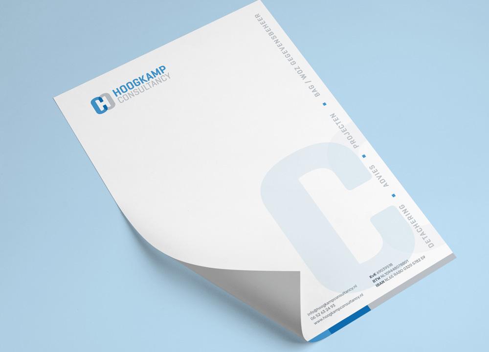 Briefpapier ontwerp Hoogkamp Consultancy
