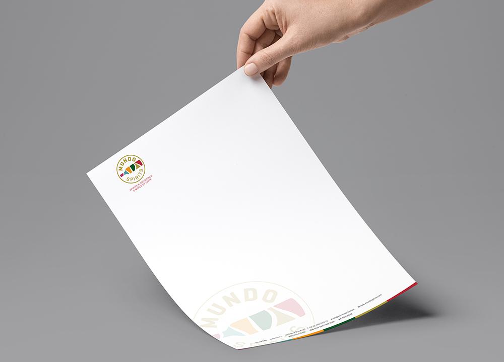 Briefpapier ontwerp Mundo Spirits