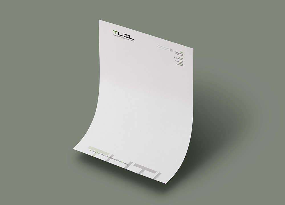 Briefpapier ontwerp Tuil Taxaties & Projectbegeleiding