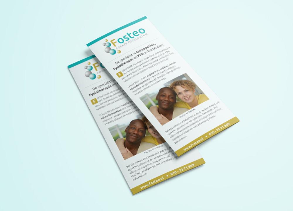 Brochure ontwerp Fosteo Osteopathie