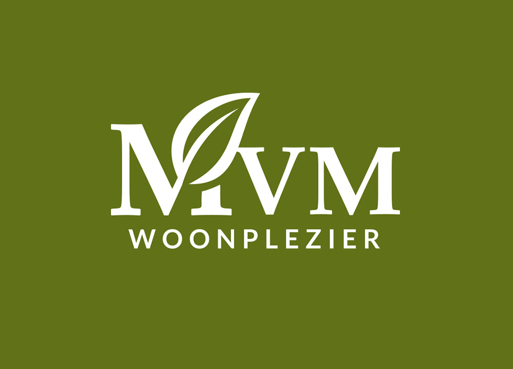 Logo ontwerp MvM Woonplezier