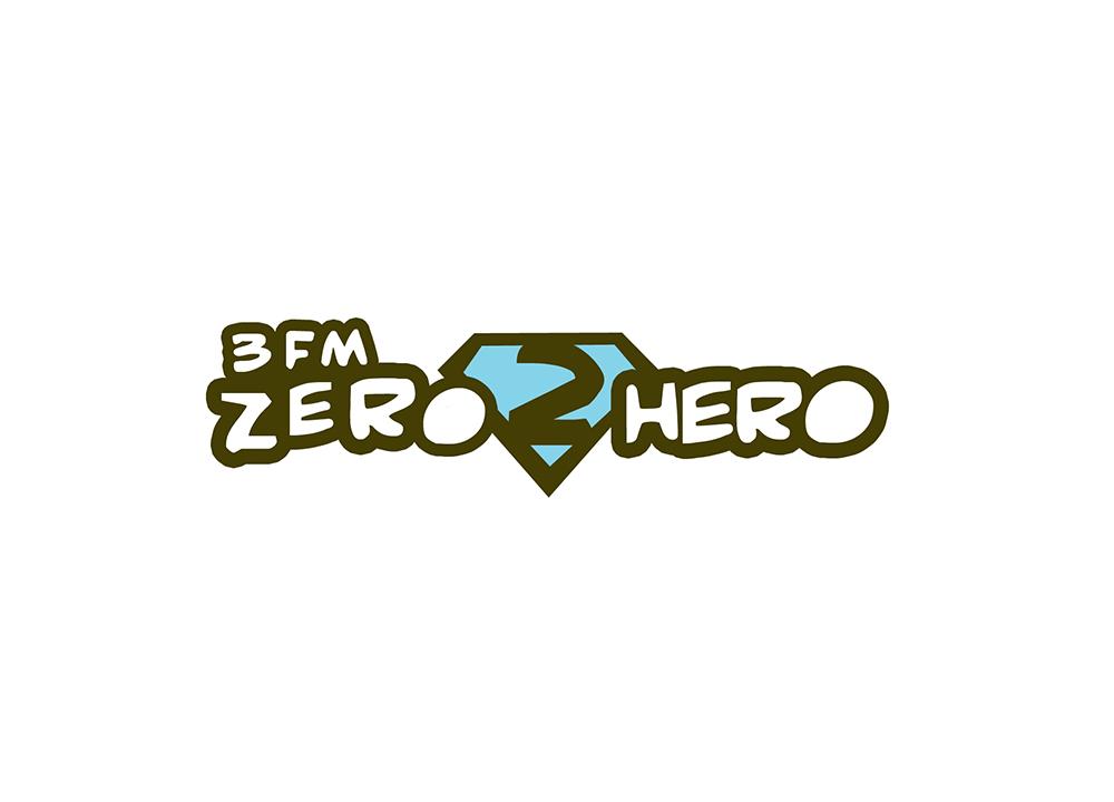 Logo ontwerp 3FM Zero 2 Hero