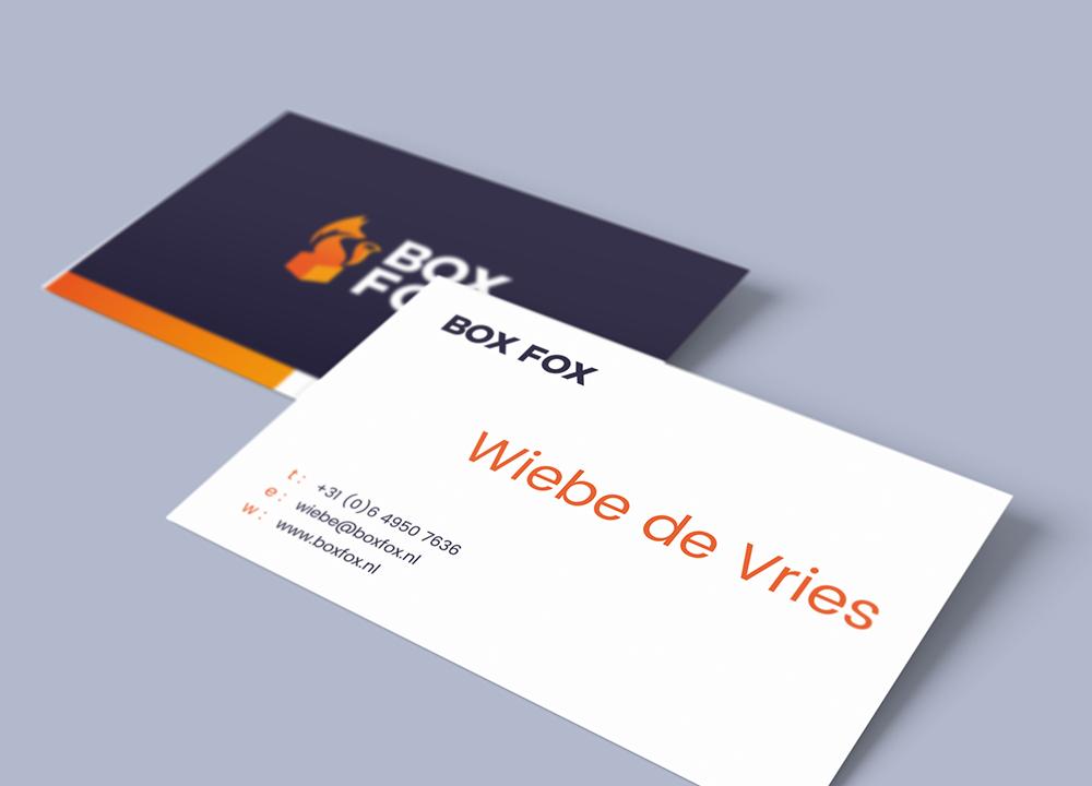 Visitekaart ontwerp van Boxfox
