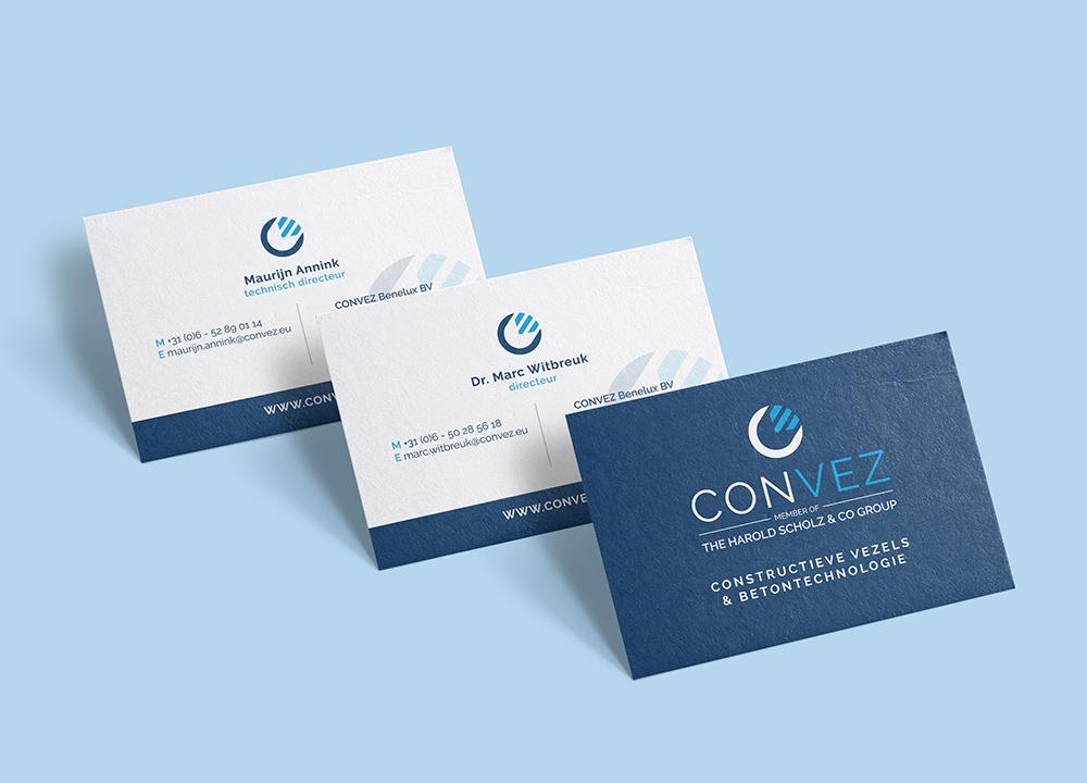 Visitekaart ontwerp Convez