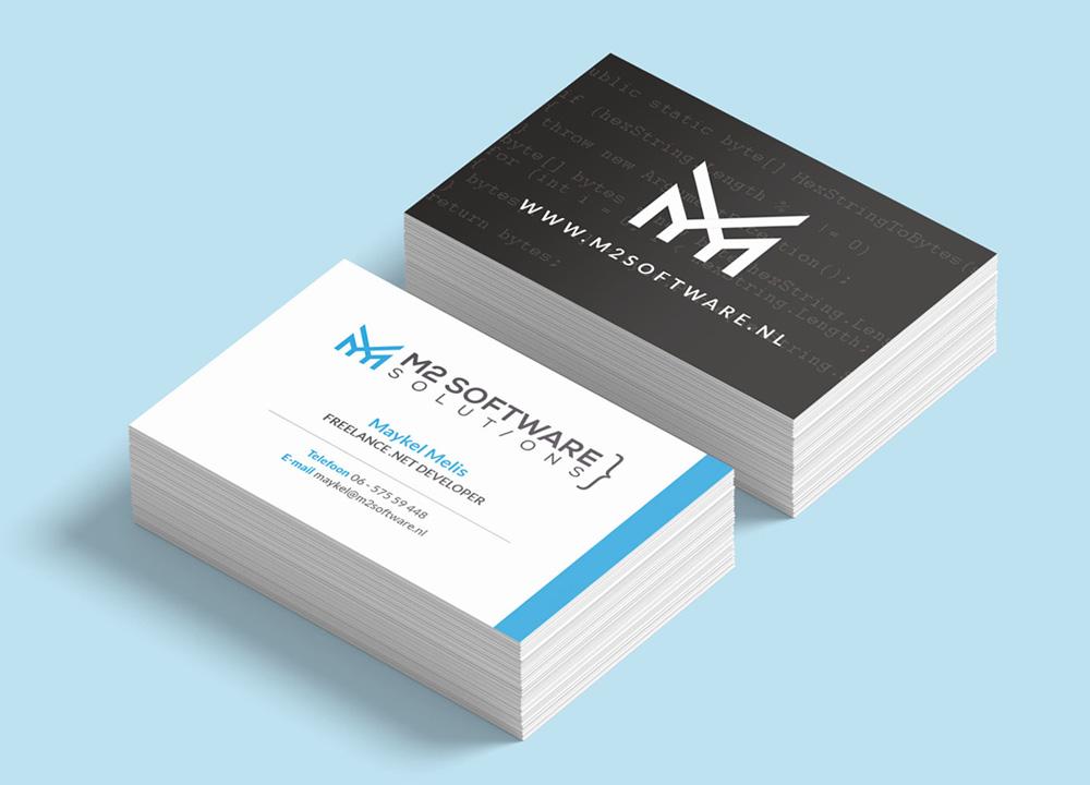 Visitekaart ontwerp M2 Software Solutions