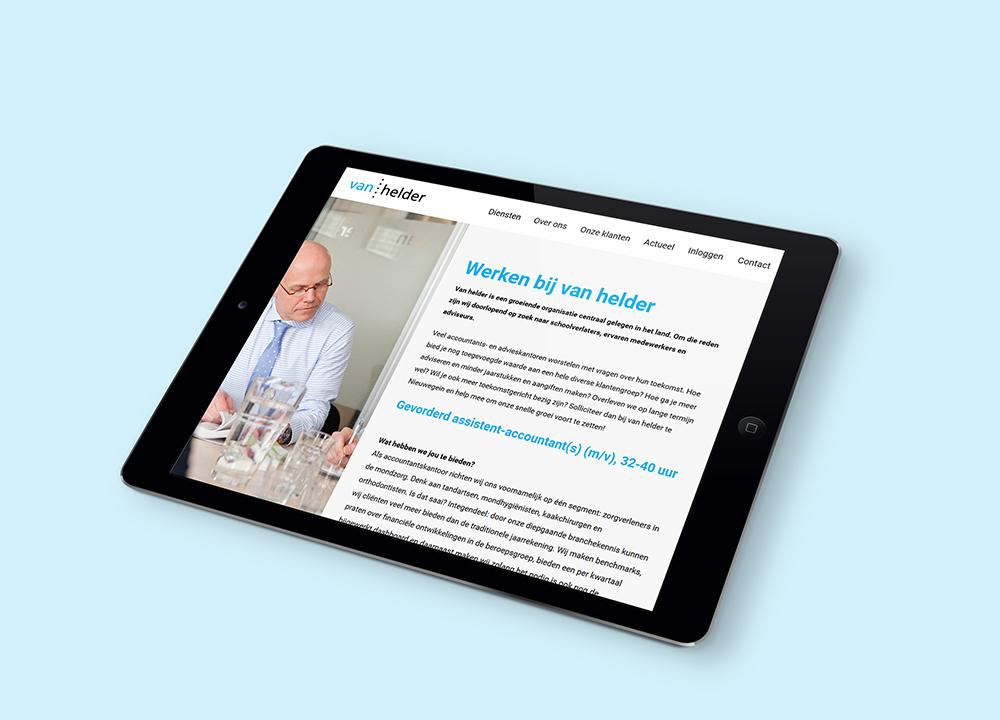 Website ontwerp van Helder