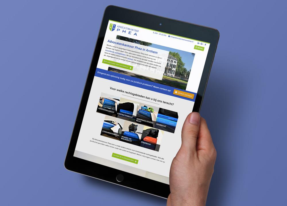 Website ontwerp Advocatenkantoor Phea
