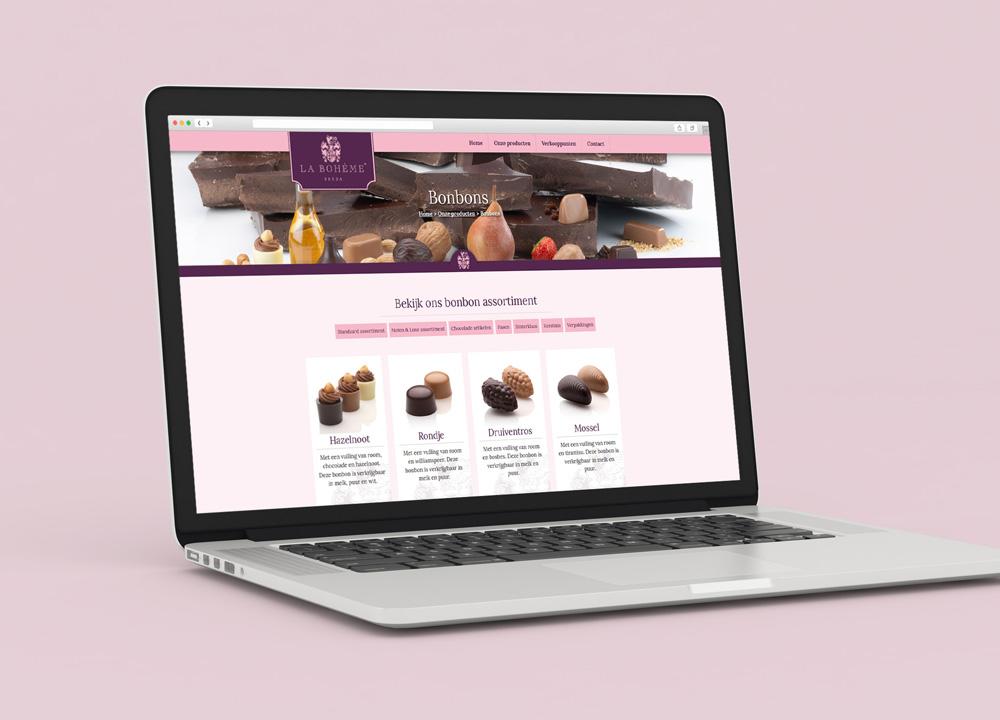 Website ontwerp La Bohème