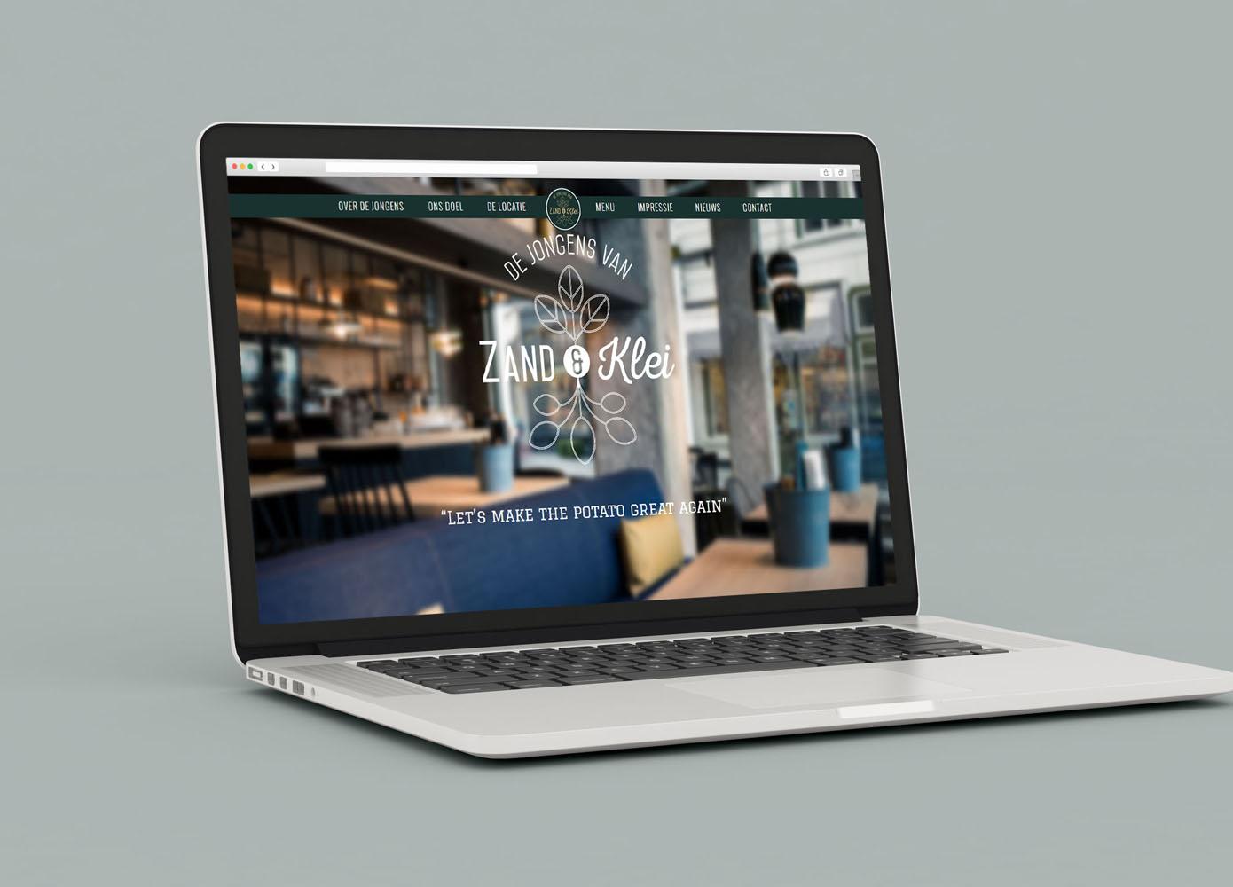 Website ontwerp de Jongens van Zand & Klei