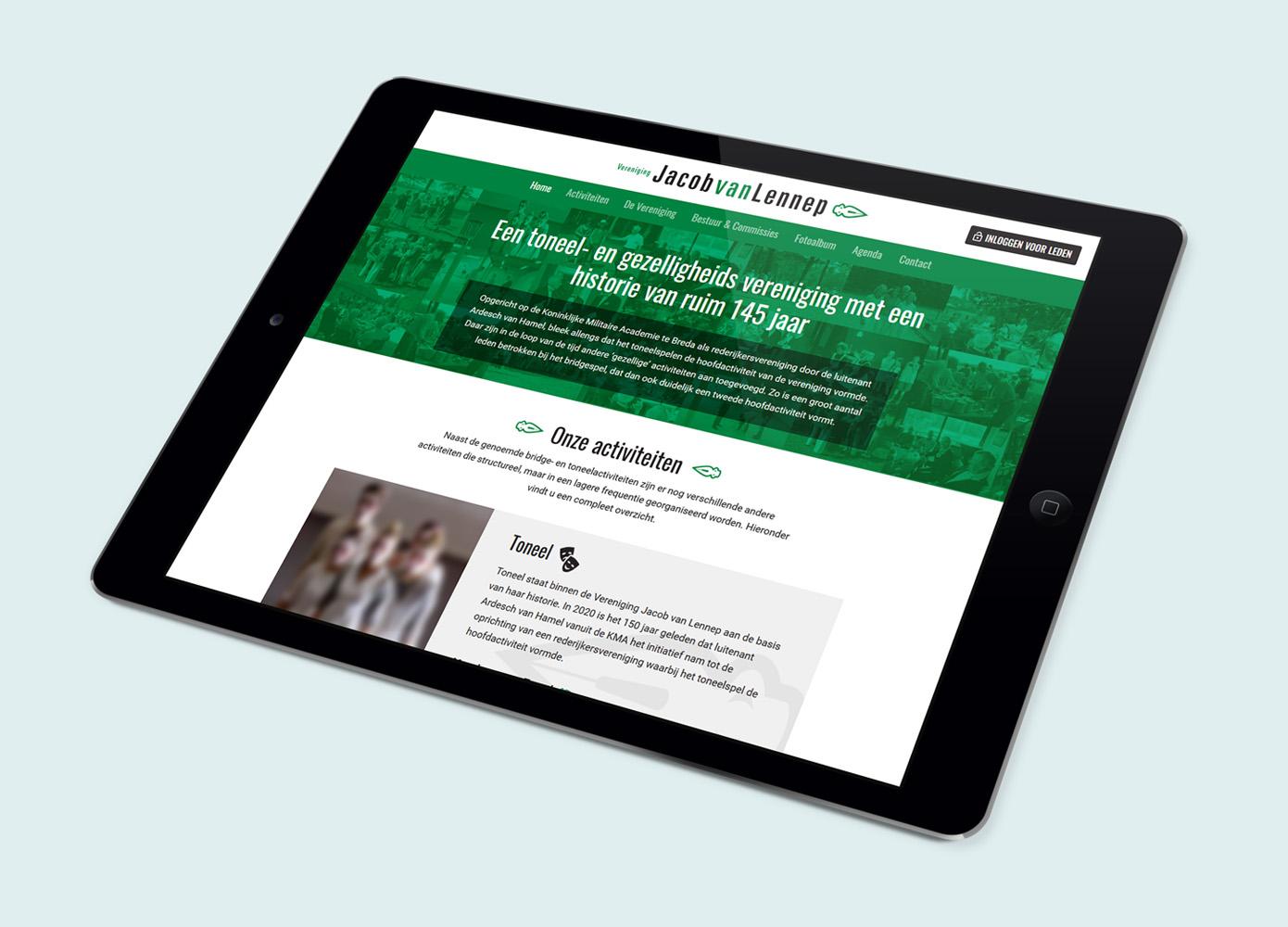 Website ontwerp Vereniging Jacob van Lennep