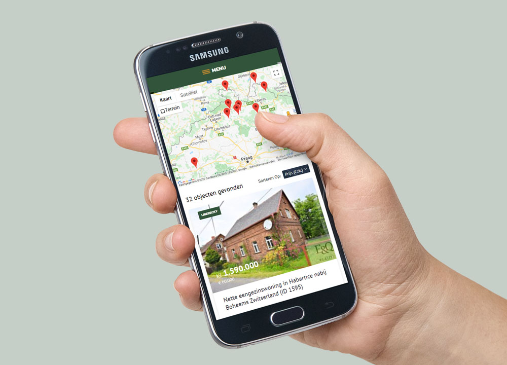 Website ontwerp van Giant Real Estate