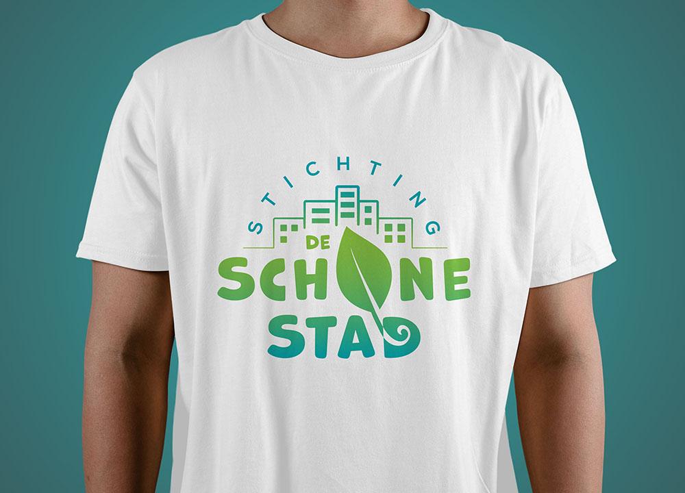 T-shirt bedrukking Stichting de Schone Stad