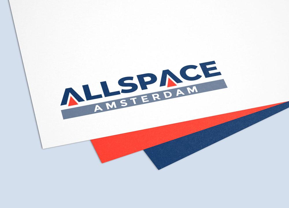 Logo Allspace Amsterdam op papier