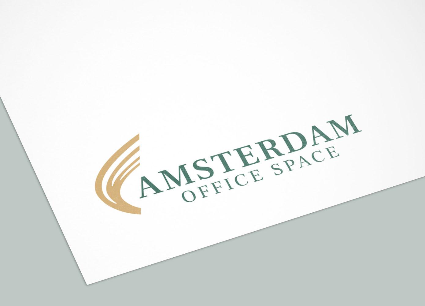 Logo Amsterdam Office Space op papier