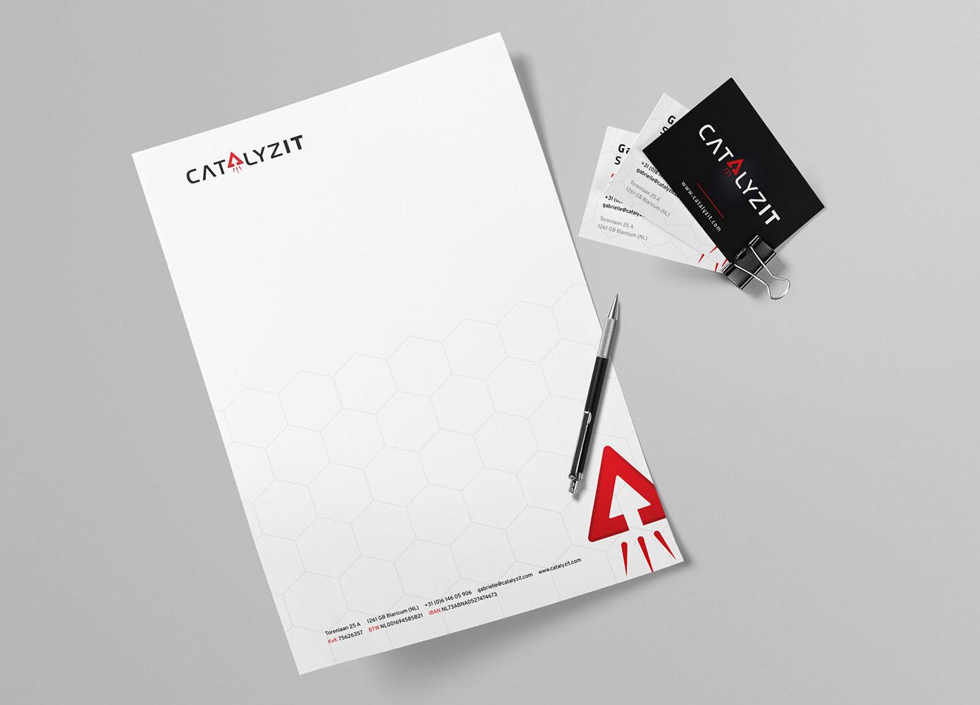Briefpapier en visitekaartjes CatalyzIT