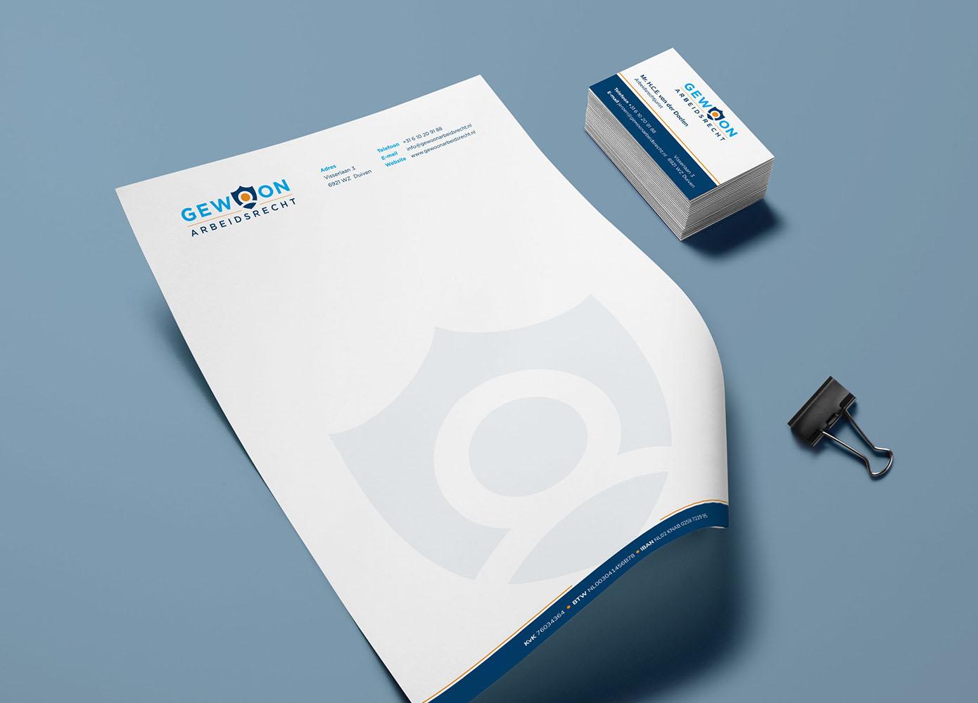 Briefpapier ontwerp van Gewoon Arbeidsrecht