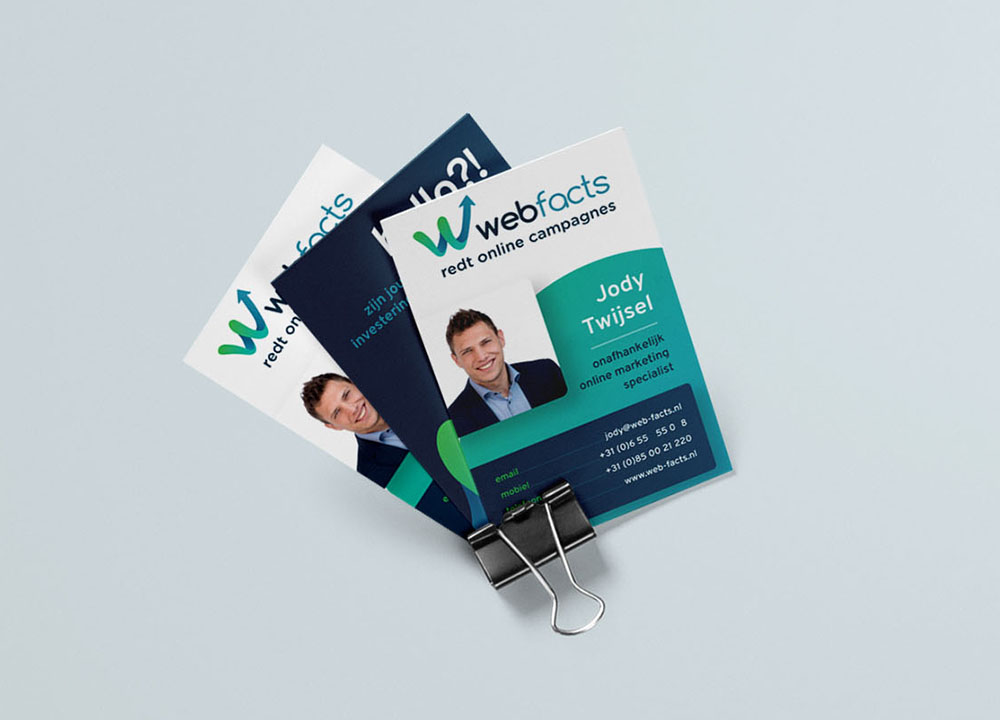 Visitekaartjes ontwerp van Webfacts