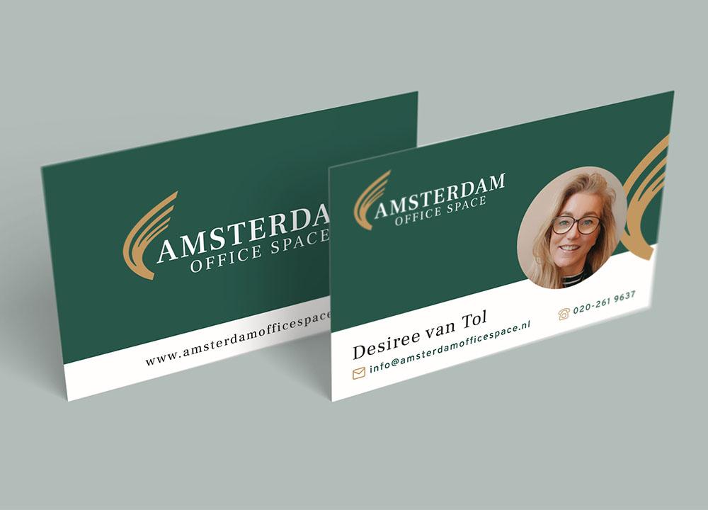 Ontwerp visitekaartje Amsterdam Office Space