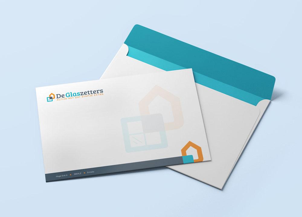 Envelop ontwerp De Glaszetters